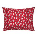 Ornament Christmas Stars Jingle Bells Tree Decoration Pillow Sham by Roostery image