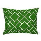 Bamboo Vintage Home Decor Trellis Chinoiserie Asian Pillow Sham by Roostery image