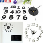 3D Modern Home Clock DIY Wall Sticker Acrylic Self Adhesive Office Decor Design