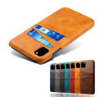 For Iphone 12 11 Pro Max Xr Xs X 7 8 Genuine Leather Card Slot Holder Case Cover