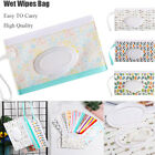 Cute Wet Wipe Pouch Travel Wipes Holder Case Reusable Refillable Wet Wipe Bag