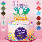 18th 21st 30th 40th PERSONALISED Birthday Cake Topper ANY Age + Name Decoration