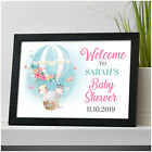 PERSONALISED Baby Shower Welcome Sign Decorations Elephant Baby Shower Sign