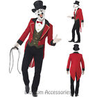 CL614 Sinister Ringmaster Mens Lion Tamer Fancy Dress Circus Costume + Mask