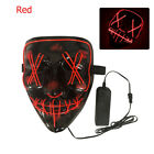 3-Modes Scary Mask Cosplay Led Costume Mask EL Wire Light Up for The Purge Movie