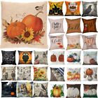 Halloween Happy Pillow Cases Fall Sofa Pumpkin Throw Cushion Cover Home Decor Us