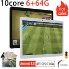 Tablet PC 10 zoll WiFi GPS Bluetooth Android 8.0 6G+64G 10core Dual Sim Tablette