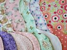 Flannel Burp Cloths Girls Large Contoured Double Fabric Mix Or Match Handmade
