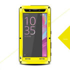 For Sony Xperia LOVE MEI Waterproof Aluminum Metal Glass Case Cover Protector