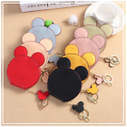 Cute Mickey Mouse Shaped Coin Purses Pouch Women's with Zipper Key Chain image