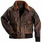 Brown Bomber Vintage Distressed Leather Aviator Jacket.