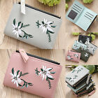 Women Short Mini Wallet Card Holder Money Phone PU Leather Folding Purse Handbag image