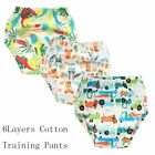 6 Layers Baby Potty Training Pants Infant Kids Reusable Diaper Cover Baby Nappy