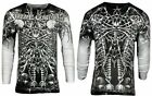 Xtreme Couture by AFFLICTION Mens THERMAL T-Shirt CATACOMBS Skull Biker Gym $58 image