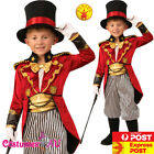 Deluxe Child Ringmaster Costume Magician Circus Boys Kids Lion Tamer Book Week