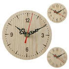 Retro Vintage Style Wooden Wall Clock Silent Numeral Quartz Home Office Decor