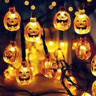 80 LED 10M Halloween Party Pumpkin Fairy Lights String Garland Outdoor Home Prop