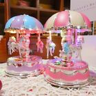 FixedPricevintage horse carousel music box kids toys flash light musical birthday gifts us