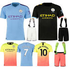 19/20 Football Club Strips Youth Jersey Uniforms 3-14Y Kids Soccer Full Kit Suit
