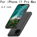 Battery Charger Case For iPhone 11 Slim External Back Pack Charging Cover Case