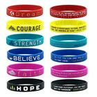 Motivational Silicone Rubber Wristbands Inspirational Bracelet Courage Dream