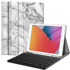 "For iPad 7th Gen 10.2"" 2019 Bluetooth Keyboard Case Stand with Pencil Holder"