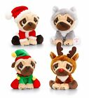 Pugsley Plush Soft Toy Christmas Pug Santa Elf Husky Rudolph LARGE 20CM