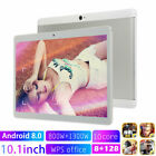10.1'' Tablet 8+128gb Android 8.0 Bluetooth Wifi Pc Dual Sim Wlan Gps Phone New