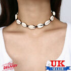Uk Stylish Beach Bohemian Sea Shell Pendant Chain Choker Necklace Women Jewelry