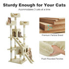 """60.5"""" 68"""" 70.3""""Cat Tree Tower Condo Furniture Scratch Post Tree Kitty Play House"""