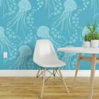Wallpaper Roll Jelly Fish Jellyfish Bubbles Ocean Animals Sea Life 24in x 27ft