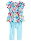 First Impressions Baby Girls 2-Piece Floral-Print Tunic  Leggings Set