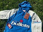 Washington Bullets Throwback Mitchell & Ness Embroidered Hoodie T-Shirt Wizards on eBay