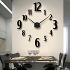 Battery Powered Self Adhesive Mirror Surface Living Room 3D Stickers Wall Clock