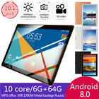 "10.1"" Inch Tablet Pc 6g+64gb 10 Core  Bluetooth Wifi Dual Sim Camera Android 8.1"