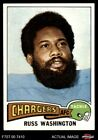1975 Topps #335 Russ Washington Chargers NM/MT $2.55 USD on eBay