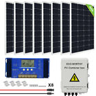 100W 200W 500W 1KW Watt Solar Panel kit 12V 24V Battery Charge Caravan Home RV