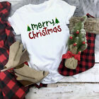 New Women's Merry Christmas Print Short Sleeve T-shirt Ladies Casual Tops Blouse <br/> ❤️US Seller❤️60 Days Free Return❤️Free Shipping❤️S-2XL