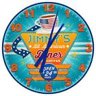 Retro Drive In Diner Customized Wall Clock from Redeye Laserworks