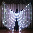 360 LED Isis Wings Belly Dance Cosplay Glow Show Light Up Costume w Sticks