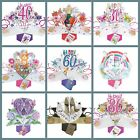 Pop Up Cards Birthdays Card Anniversary Mothers Day Valentine's Day Wedding Day