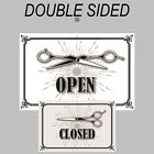 Retro Open and Closed sign double sided 9500 Barber Shop Hairdresser signs