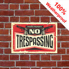 No Trespassing vintage style sign with guns 9503 Man cave fun novelty gift idea