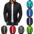 Men's Winter Warm Quilted Jacket Lightweight Stand Collar Packable Padded Coat @