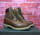 TIMBERLAND MEN'S TIMBERLAND HERITAGE 6 INCH WATERPROOF BOOTS BURNT ORANGE OILED