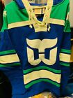 Hartford Whalers 47 Brand Hockey Lacer Jersey Hoodie Old Time Hockey Lace