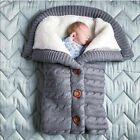 Baby Winter Wrap Warm Swaddle Blanket Knit Sleep Bag Sack Stroller Wrap