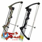 US JH7474 Black/Camo 20lbs Hunting Archery Traditional Compound Bow Hunt Fishing