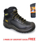 Grisport Mens Contractor S3 Safety Work Boots Steel Toe - FREE 3 PACK SOCKS
