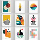 Geometric Wall Art Framed Abstract Prints Modern Picture Home Wall Décor Artwork